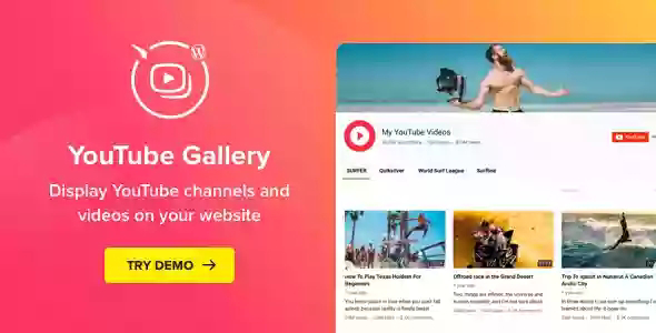 YouTube Plugin v3.4.0 – WordPress YouTube Gallery