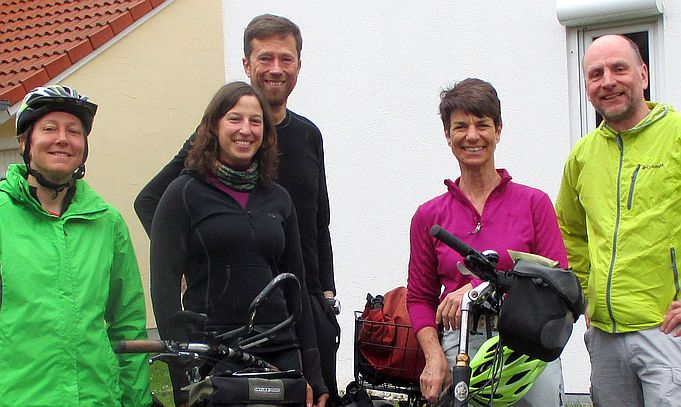 Miri on the Bike, Theresa, Markus, Ann-Kathrin und Chris on the Bike in Mühldorf am Inn