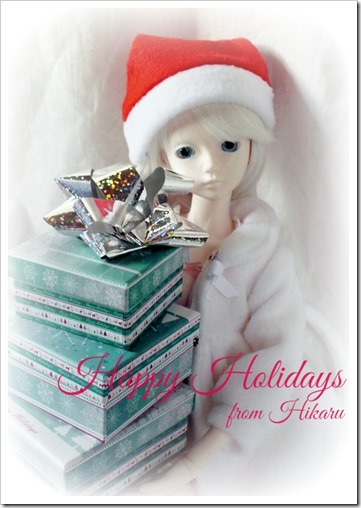 Happy Holidays from Hikaru the Bjd