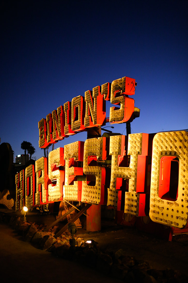 Binions Horseshow Sign at the Neon Sign Graveyard Las Vegas.