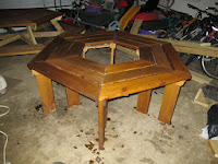Tree table stained