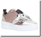 Kurt Geiger Silver Satin Low Top Trainers