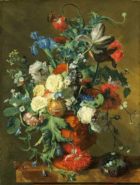 Jan van Huysum - Flowers in an Urn