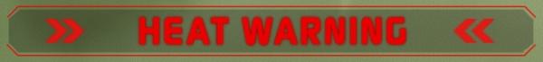 MechWarrior Online Heat Warning