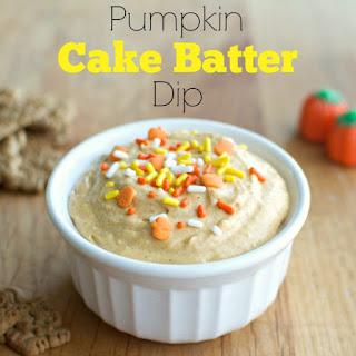 Pumpkin Cake Batter Dip