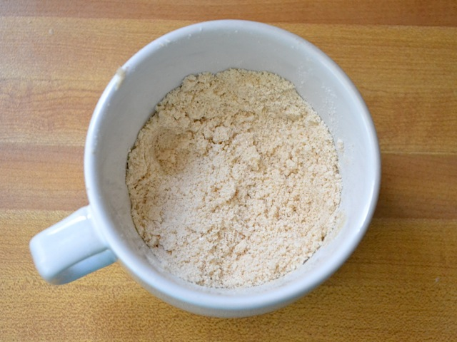 butter mixed into dry ingredients