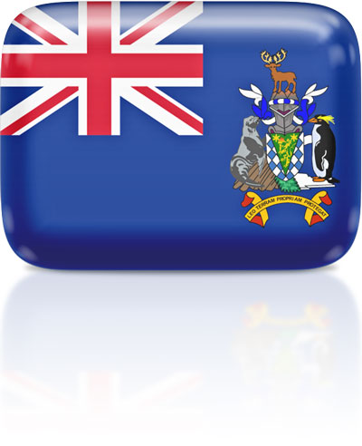 South Georgia or  South Sandwich Islands flag clipart rectangular