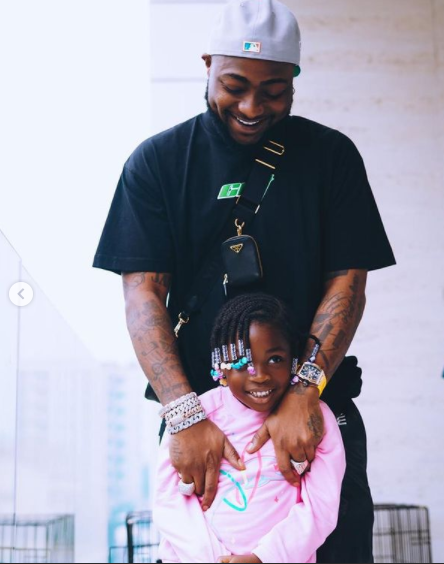 Davido Surprises His Daughter, Imade With A Dior Saddle Bag Worth N1.7 Million