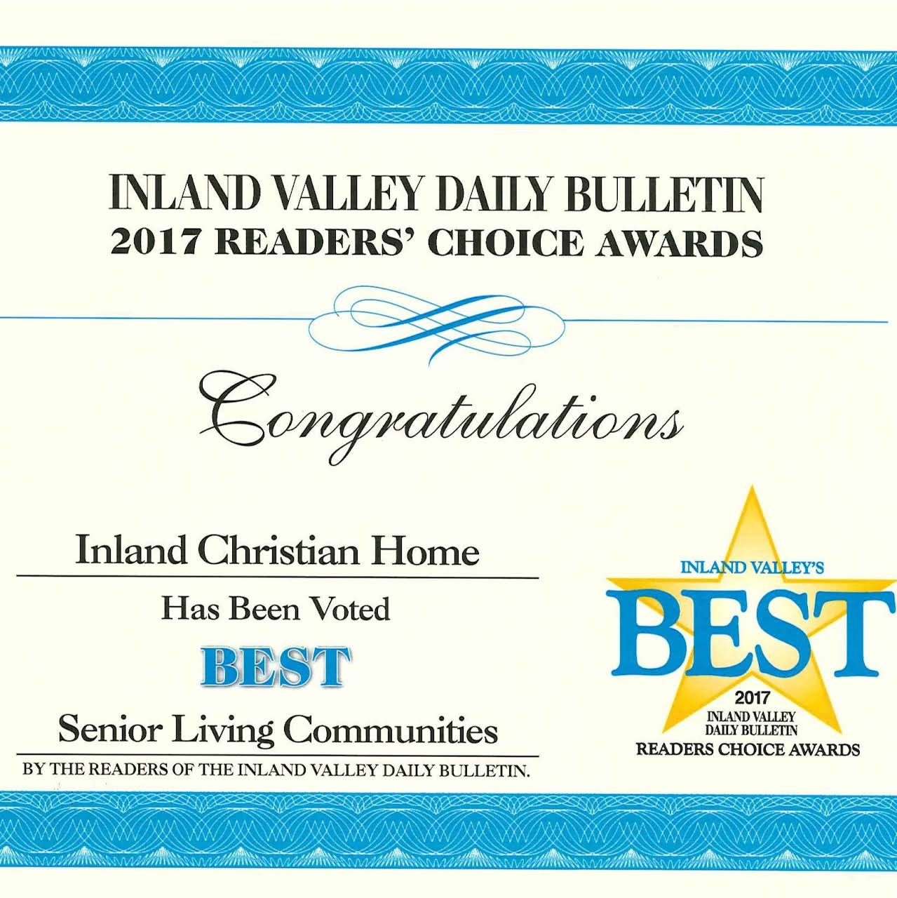 Inland Christian Home Inc