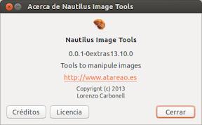 Nautilus-Image-Tools en Saucy Salamander