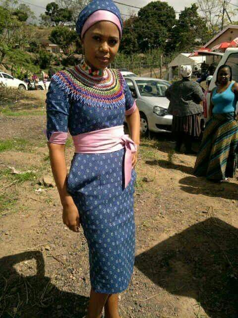 Shweshwe South African Outfits For Trends 2018 - Fashionre-8177