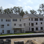 The townhouses go up quickly