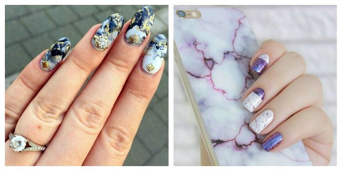 Top Trendy Cute Marble Nail Art Designs For 2018