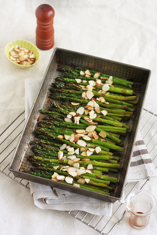 Roasted Asparagus with Cherry Balsamic Glaze
