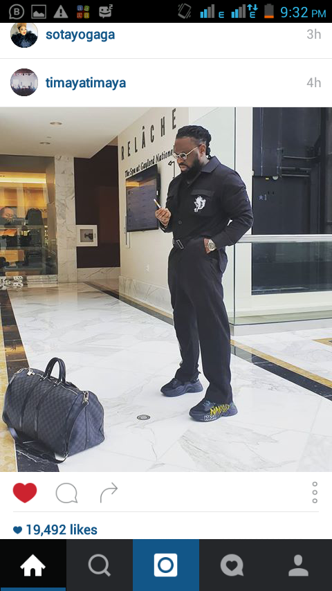 Timaya Steps Out in A Style Calls Himself Billionaire