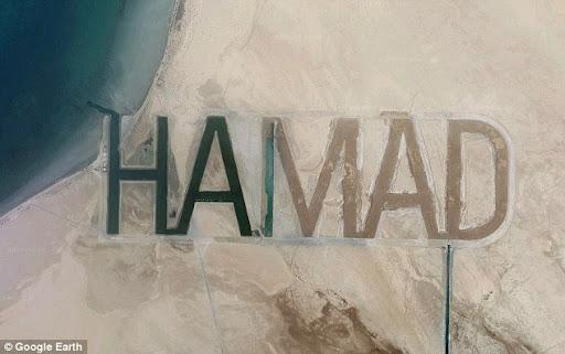 HAMAD, Tulisan Terbesar Di Dunia