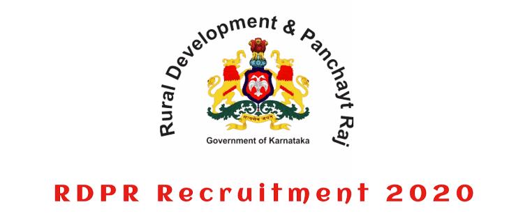 RDPR Karnataka Recruitment 2020: Apply Online for 7021 Various Posts