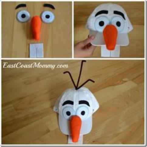 disfraz casero de Olaf de frozen (4)