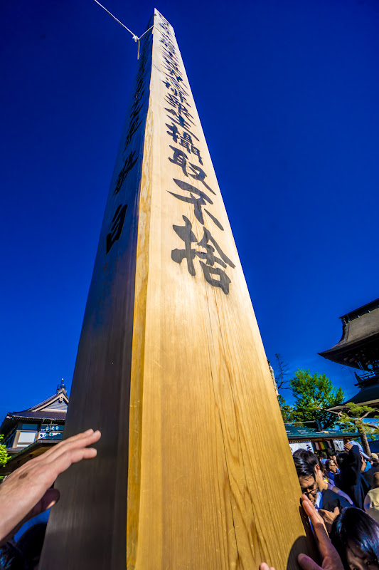 Zenkoji temple Eko-bashira Pillar photo3