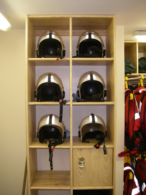 Kit room at Poole Lifeboat Station