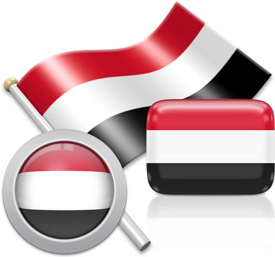 Yemeni flag icons pictures collection