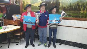 Jesus Martinez Alonso y Juan Mari garcia Barcena (pitu), Campeones del XXXV Campeonato de mus Bar Laubide