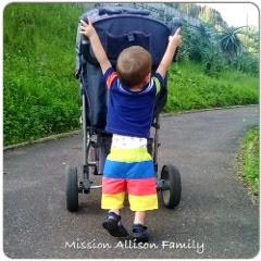 Tot school gross motor skills, pushing own stroller