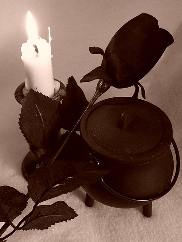 Rose And A Black Candle, Candle Magic