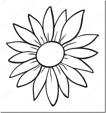 flore sencillas para colorear  (20)