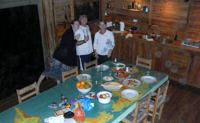 Cooking supper in our house, Casa Algodoal in Tofo