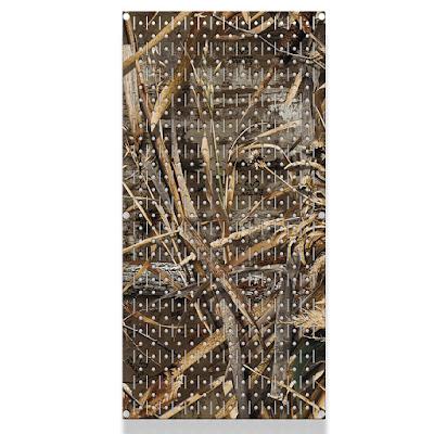 Single Pegboard Panel Camo Pattern