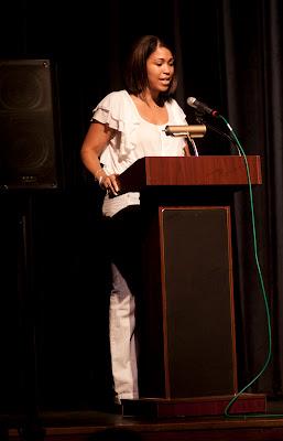 Talia Young, Choreographer,  speaking.   Photos by TOM HART/  FREELANCE PHOTOGRAPHER