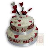 22. kép: Esküvői torták - Esküvői két szintes szívecskékkeltorta