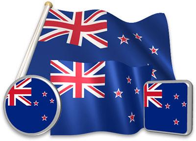New Zealand flag animated gif collection
