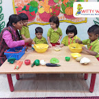 Making Healthy Bhel Activity by Playgroup Section at Witty World, Bangur Nagar (2018-19)
