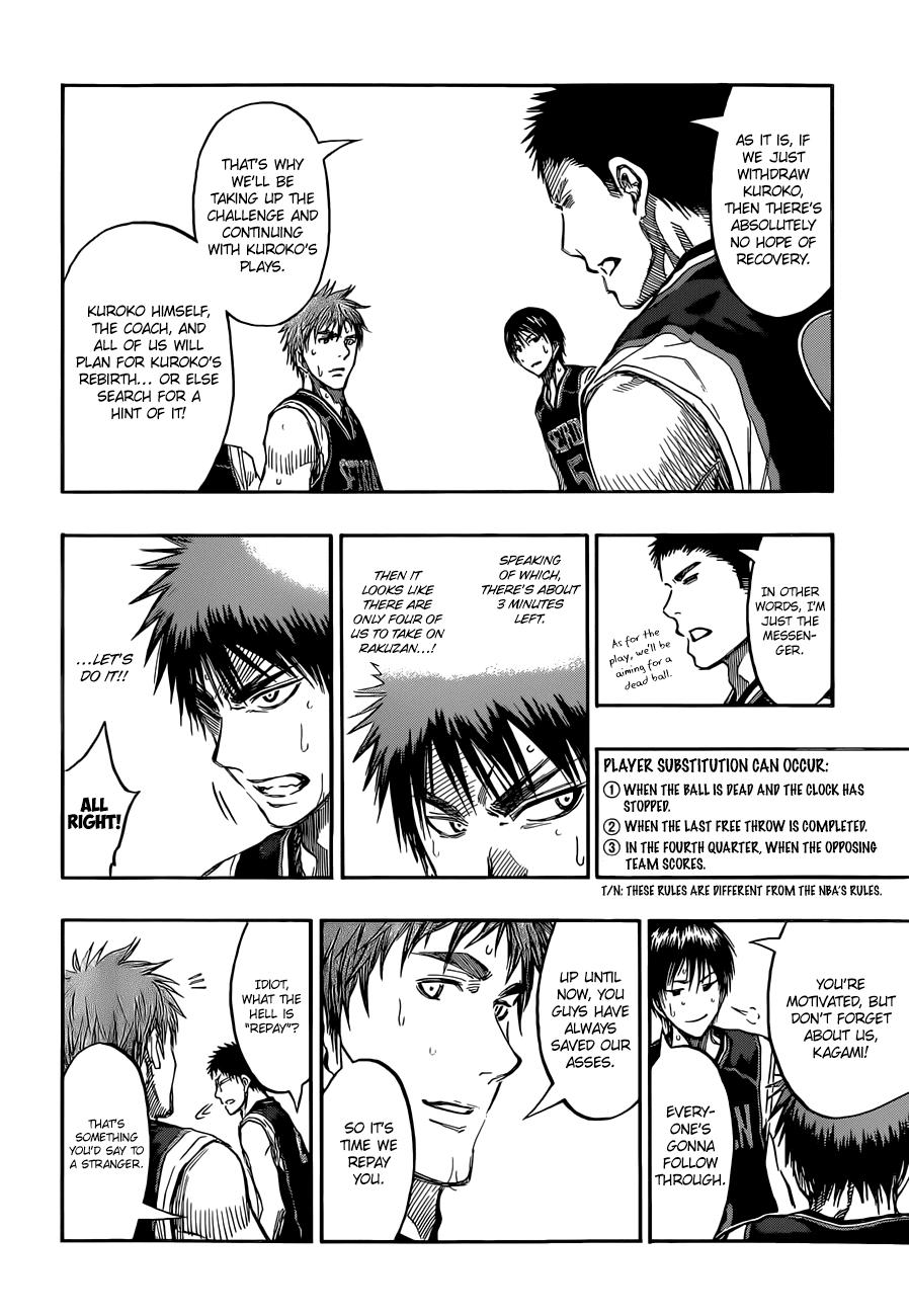 Kuroko no Basket Manga Chapter 237 - Image 08