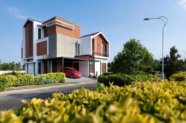 Mẫu thiết kế biệt thự 3 tầng tại thung lũng Campan, Ấn Độ