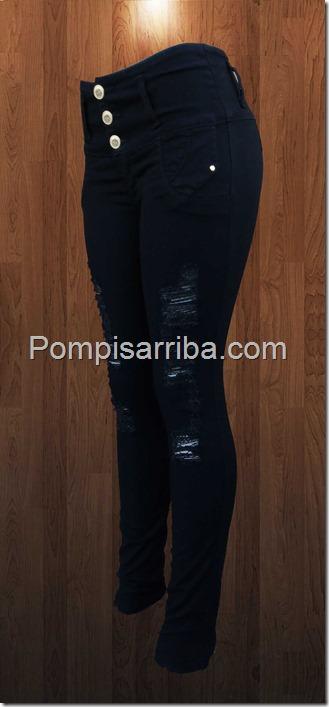 Negro jeans roto de mayoreo