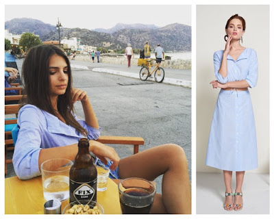 Emily Ratajkowski in Staud Joey Top