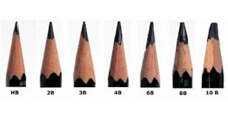 Pensil yang Berkode B Menandakan Pensil