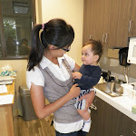 LePort Private School Irvine - Teacher and baby in Montessori daycare kitchen