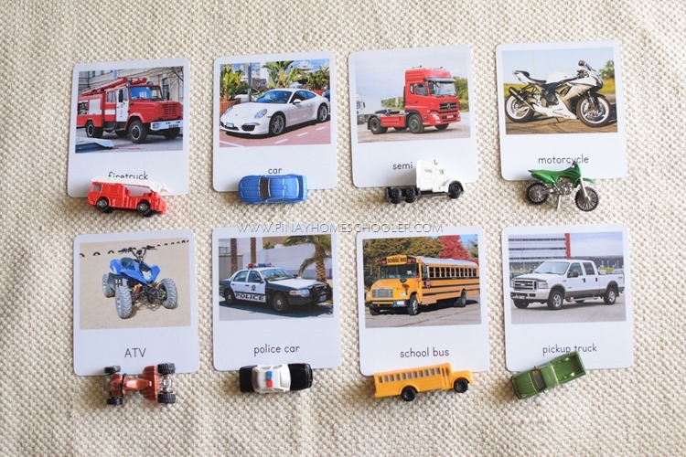 Land Transportation 3 Part Cards
