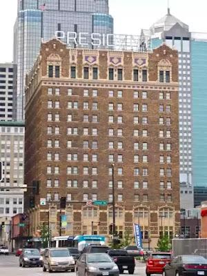 The President Hotel in Kansas City, Missourri.