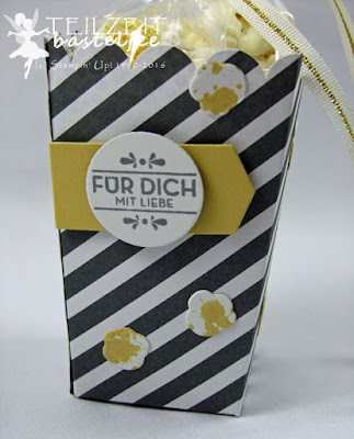 Stampin' Up! Thinlits Popcorn-Schachtel, Popcorn Box, Hausgemachte Leckerbissen, Homemade for you