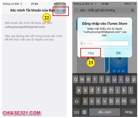 Chia sẻ cách tạo tài khoản ID Apple ios