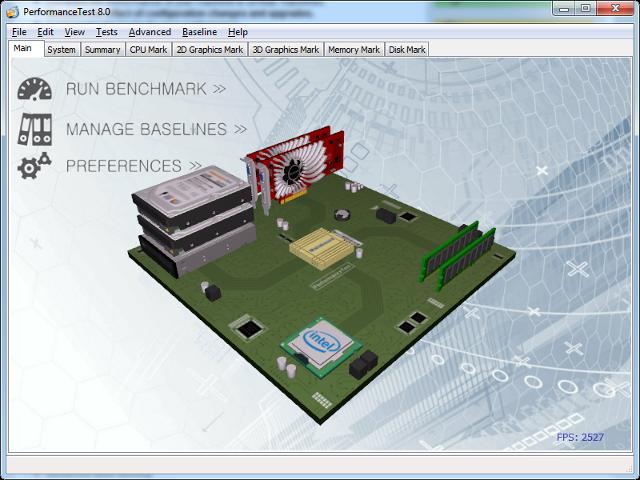 PassMark PerformanceTest 9.0 Build 1028