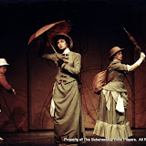 Christine Boice Saplin, Eileen McCashion and Rita Russell in ON THE VERGE - January/February 2000.  Property of The Schenectady Civic Players Theater Archive.