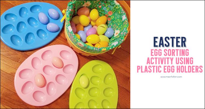Easter Egg Sort For Toddlers & Babies