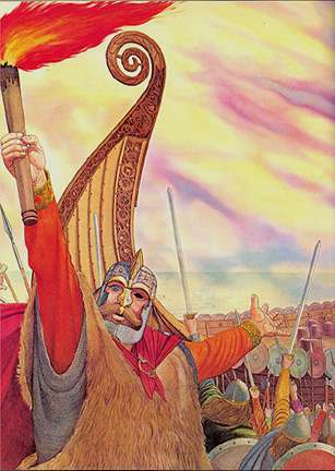 Odin At Balder Pyre, Asatru Gods And Heroes