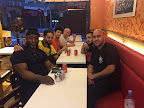 Sifu Shawn-Abdullah Sosanya, Tariq, Sifu Dawud Tsan, Michael, Sifu Sorwar Ahmed and Kamran enjoying a little timeout from training.